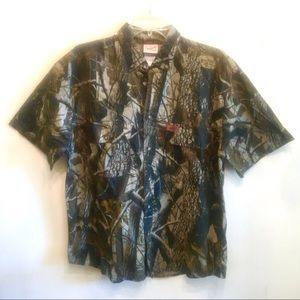 {Woolrich} Camo Outdoor Guide Button Down Shirt